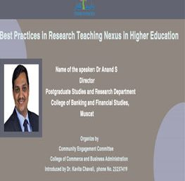 Practices in Research Teaching Nexus in Higher Education